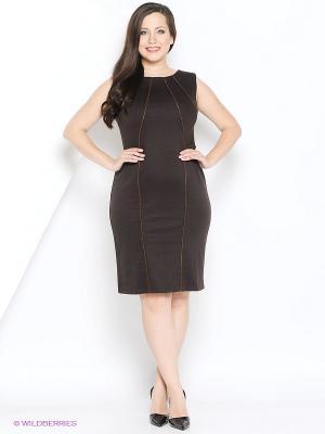 Платье МадаМ Т. Цвет: антрацитовый, коричневый
