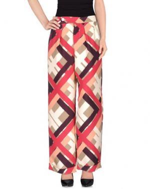 Повседневные брюки LAVINIATURRA. Цвет: пурпурный