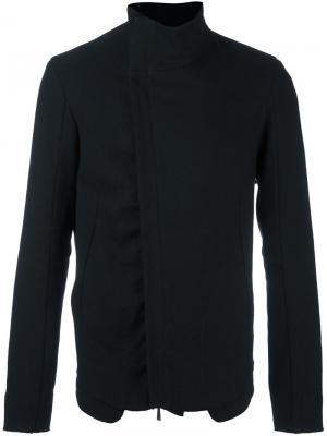 Асимметричная куртка с воротником-стойкой Masnada. Цвет: чёрный