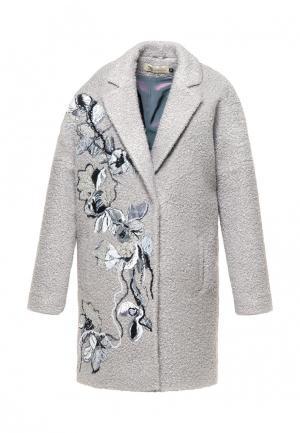 Пальто Yukostyle. Цвет: серый