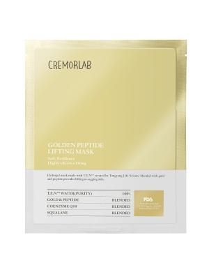Лифтинг маска с золотом и пептидами CREMORLAB. Цвет: золотистый