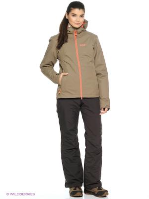 Куртка CHILLY MORNING WOMEN Jack Wolfskin. Цвет: хаки