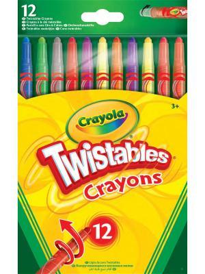 Выкручивающиеся восковые мелки, 12 штук Crayola. Цвет: желтый