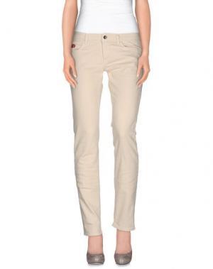 Джинсовые брюки UNLIMITED. Цвет: слоновая кость