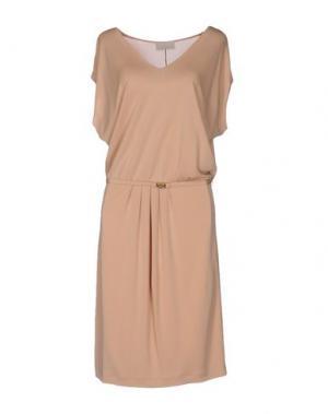 Платье до колена ROBERTA SCARPA. Цвет: песочный