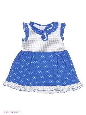 Платье Апрель. Цвет: синий, белый