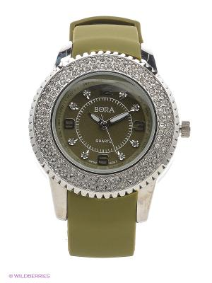 Часы Bora. Цвет: оливковый