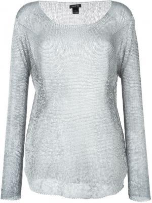 Декорированный свитер Avant Toi. Цвет: серый