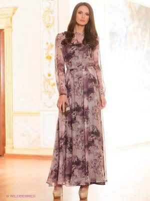 Платье IMAGO. Цвет: сливовый, черный