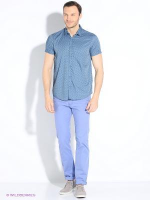 Рубашка Dairos. Цвет: серо-голубой, серебристый, серый