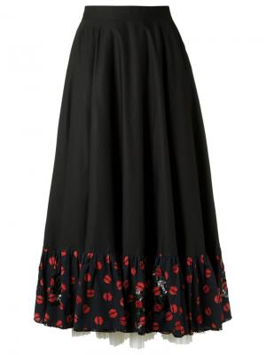 Embroidered skirt Isabela Capeto. Цвет: чёрный