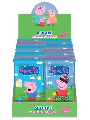 Влажные салфетки Mix Peppa Pig.. Цвет: белый
