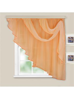 Комплект штор для кухни Witerra. Цвет: светло-оранжевый