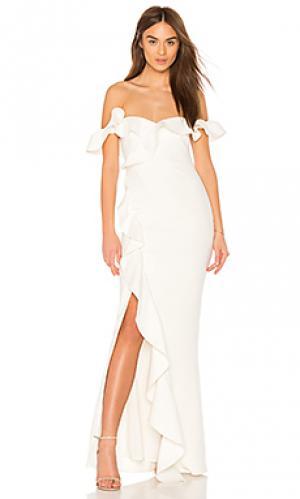 Вечернее платье miller LIKELY. Цвет: белый