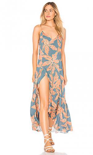 Макси платье elma Vix Swimwear. Цвет: синий
