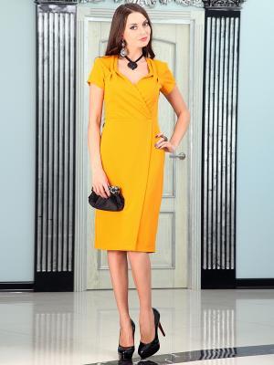 Платье Lussotico. Цвет: желтый