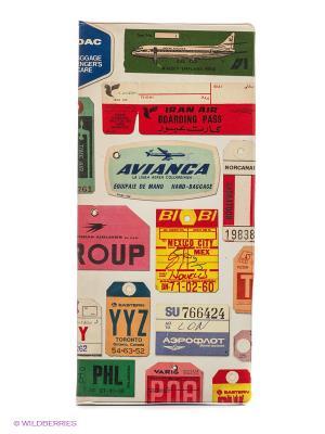 Обложка для путешествия Vintage TAGS Kawaii Factory. Цвет: бежевый, красный, зеленый