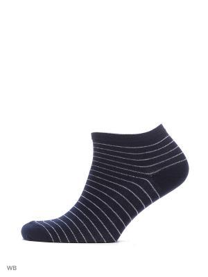 Носки укороченные из гребенного хлопка (3 пары) HOSIERY. Цвет: синий