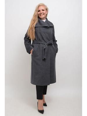 Пальто Каролин LINO RUSSO. Цвет: серый