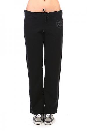 Штаны широкие женские  Opus Dot Straight Leg Black Santa Cruz. Цвет: черный