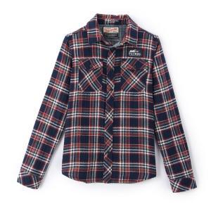 Рубашка в клетку с длинными рукавами PETROL INDUSTRIES. Цвет: черный + красный