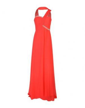 Длинное платье MUSANI COUTURE. Цвет: коралловый