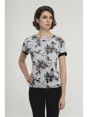 Блузка Modern. Цвет: черный, серый