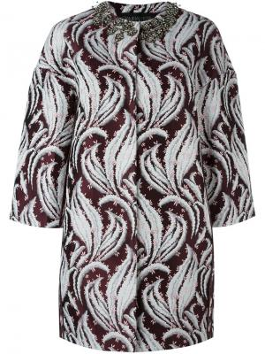 Декорированное пальто Giambattista Valli. Цвет: красный