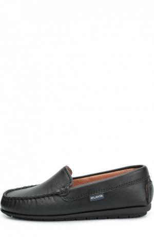 Классические кожаные мокасины Atlanta Mocassin. Цвет: черный