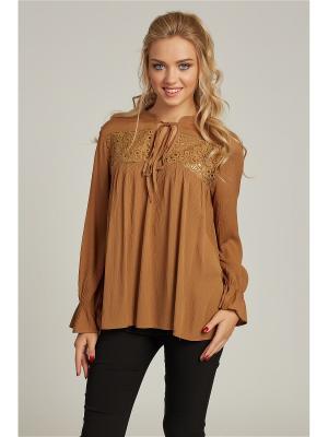 Блуза Ada Gatti. Цвет: коричневый