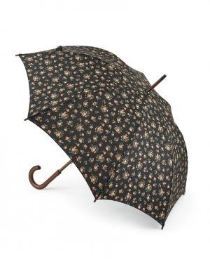 Зонт-трость Цветы  by Fulton Cath Kidston. Цвет: черный