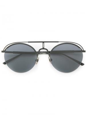 Солнцезащитные очки Nylon Dion Lee. Цвет: чёрный
