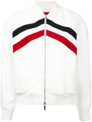 Куртка-бомбер Bayouda Moncler Gamme Rouge. Цвет: белый