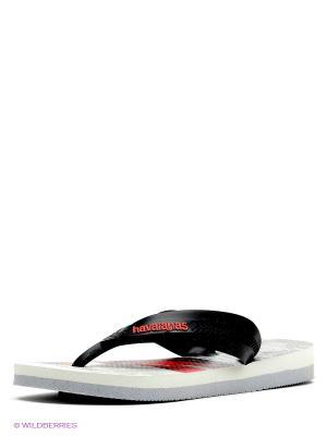 Шлепанцы Havaianas. Цвет: белый, черный
