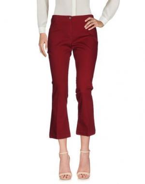 Повседневные брюки QL2 QUELLEDUE. Цвет: красно-коричневый
