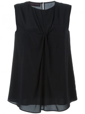 Блузка с перекрученной деталью спереди Talbot Runhof. Цвет: чёрный