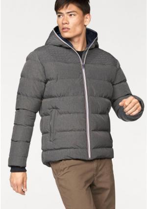 Стеганая куртка JOHN DEVIN. Цвет: серый