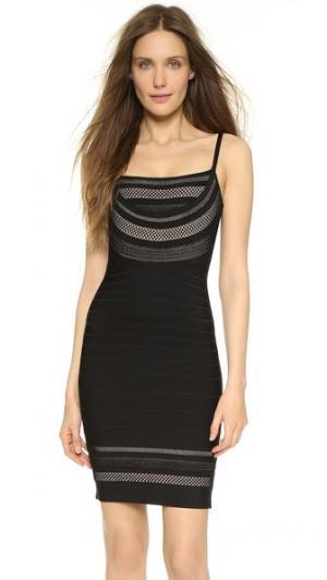 Платье Nanette Herve Leger. Цвет: черный комбинированный
