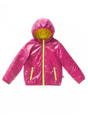 Куртка United Colors of Benetton. Цвет: малиновый, желтый