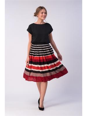Блузка YULIA'SWAY. Цвет: черный