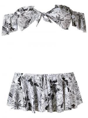 Printed bikini set Amir Slama. Цвет: чёрный