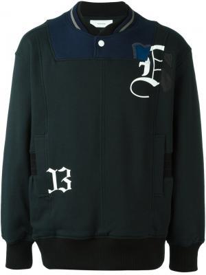 Толстовка в стиле куртки бомбер Facetasm. Цвет: чёрный