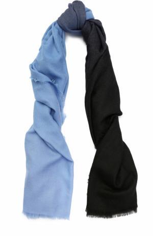 Кашемировый шарф Franco Ferrari. Цвет: голубой