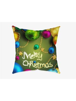 Наволочка С Рождеством Сирень. Цвет: синий, золотистый, малиновый, оливковый