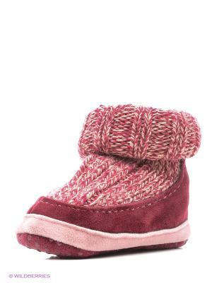Тапочки- носки противоскользящие BROSS. Цвет: бордовый