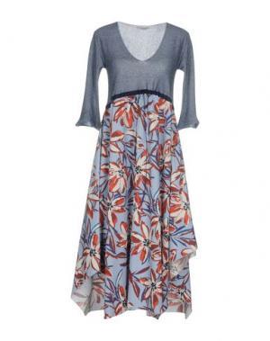 Платье длиной 3/4 DEVOTION. Цвет: темно-синий