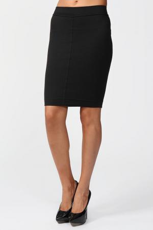 Обтягивающая юбка с поясом на резинке Suvenir. Цвет: черный