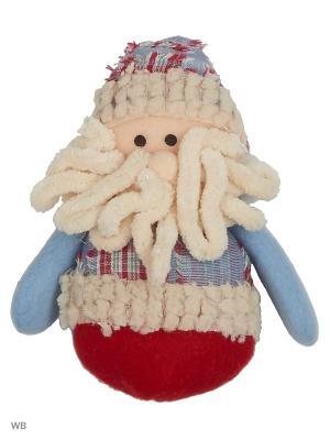 Игрушка мягкая Дед Мороз Деним А М Дизайн. Цвет: серо-голубой, малиновый, кремовый, белый