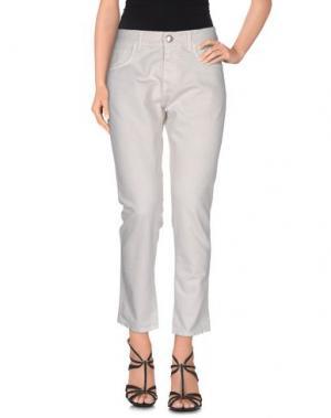 Джинсовые брюки MAURO GRIFONI. Цвет: слоновая кость