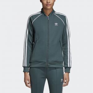 Олимпийка SST  Originals adidas. Цвет: зеленый